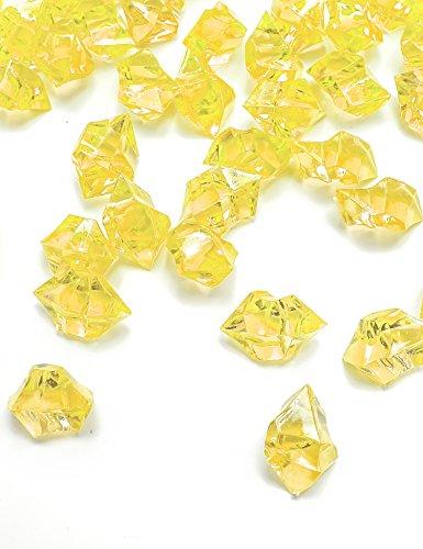 mini glass gems clear - 5