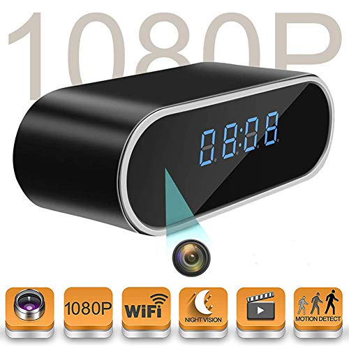 Hidden Camera in Clock TenGong Spy Alarm Clock WiFi Hidden Cameras 1080P Video Recorder Wireless IP Camera for Indoor Home Security Monitoring Nanny Cam with Night Vision (Video-Only)