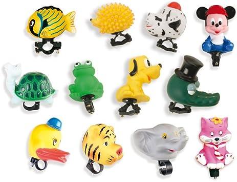 V PARTS - 707 : Caja de 12 bocinas infantiles surtidas de animales bici bicicleta: Amazon.es: Coche y moto
