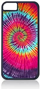 Spun Tie Dye - Iphone 6 plus (5.5) Rubber DOUBLE LAYER PROTECTION black case - compatible with Iphone 5 6 plus (5.5)