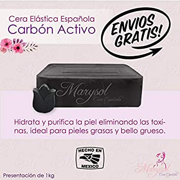 Amazon.com: Cera Depiladora de Carbon Activado Española ...