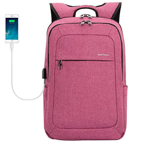 kopack Women Laptop Backpack School USB Charging Port Anti T
