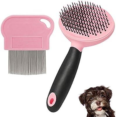 Junenoma Cepillo Suave para Mascotas para Perros y Gatos con Pelo ...