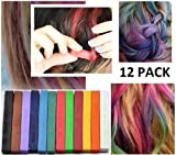 CKB Ltd Pack of 12 Quality Artist Pastels Ideal For Hair Chalking & Art Projects
