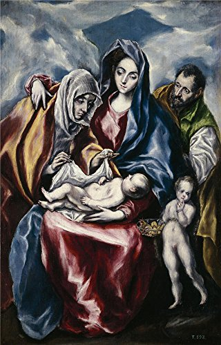 ['El Greco La Sagrada Familia Con Santa Ana Y San Juanito Ca. 1600 ' Oil Painting, 8 X 13 Inch / 20 X 32 Cm ,printed On Polyster Canvas ,this Vivid Art Decorative Prints On Canvas Is Perfectly Suitalbe For Home Theater Decor And Home Decoration And] (San Francisco Adult Hippie Costumes)