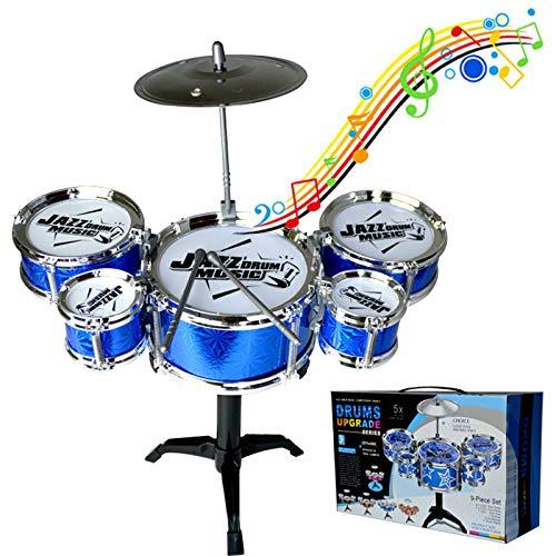 Mokylor Educational Children Toys Kids Musical Instrument Toy 5 Drums Simulation Jazz Drum Kit with Drumsticks Musical Toy - Random Color