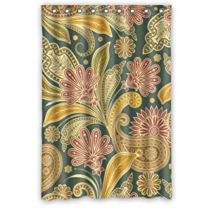 """(48"""" x 72"""" ) Stylish Living Elegant Vintage Floral Bathroom Shower Curtain for Home / Traval / Hotel with Hooks"""