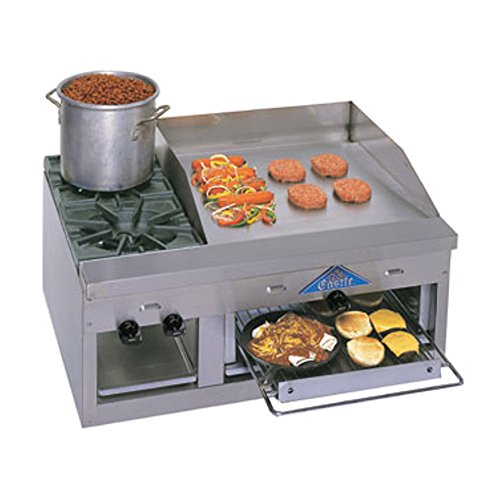 Gas Counter Unit Hot Plate - Comstock Castle FHP36-24B Gas Countertop Hot Plate & Griddle Combo Unit