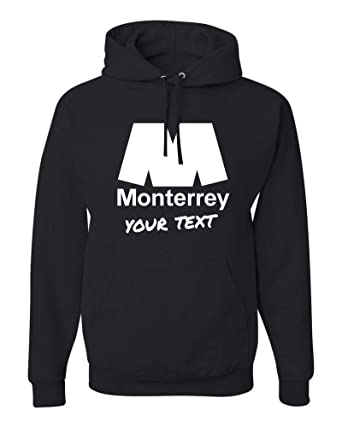 Amazon.com: Monterrey Rayados Hooded Hoodie Hoody Sudadera with Free Custom Text(Optional): Clothing