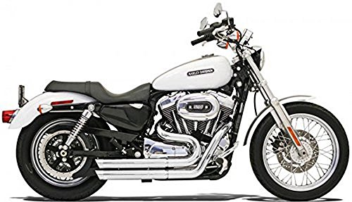 - Bassani Manufacturing FireStorm Exhaust System - Chrome with Rotatable Slash Cut End Caps, Color: Chrome 14113S