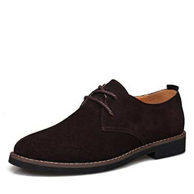 Shoes Men's Shoes Suede Spring Summer Fall Winter Comfort Lace-up For Casual (Color : A Size : 41)