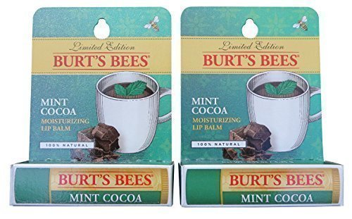 Hot Cocoa Kisses - Burt's Bees Limited Edition Mint Cocoa Lip Balm (2 Pack)