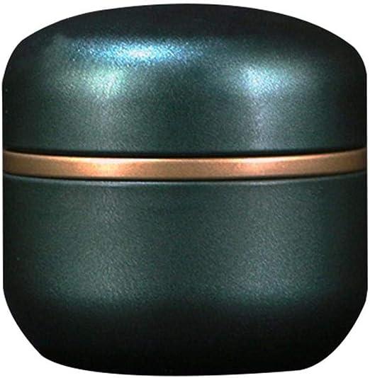 Caja de metal pequeña redonda de chapa blanca con tapa, caja de ...
