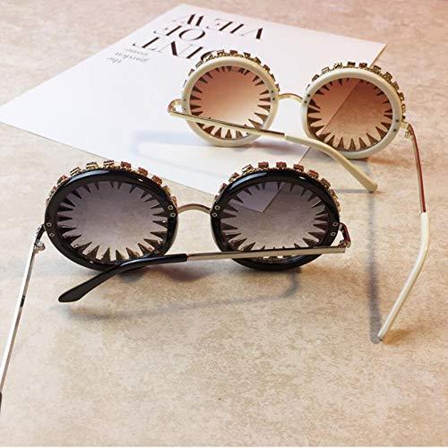 Lunettes Rondes Noir Soleil Rivet De De Mode Brun Universel whiteframe Lunettes Soleil De De RwqPRz