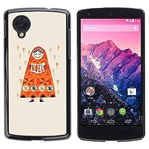 Be Good Phone Accessory // Dura Cáscara cubierta Protectora Caso Carcasa Funda de Protección para LG Google Nexus 5 D820 D821 // Rain Deep Orange Russia Drawing
