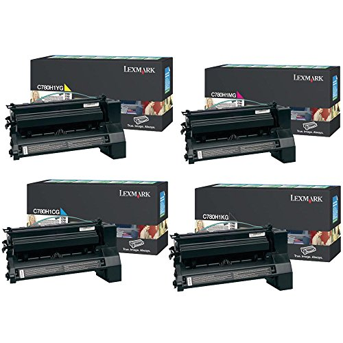 Lexmark C780H1KG, C780H1CG, C780H1MG, C780H1YG High Yield Toner Cartridge Set - Lexmark C780dn -