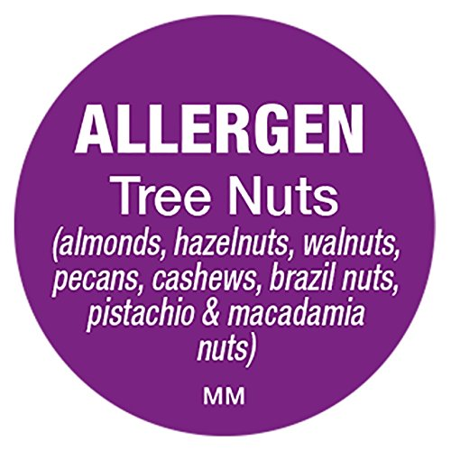 Allergy Tree Nuts - DayMark IT117122 MoveMark Allergen Removable Circle Label,