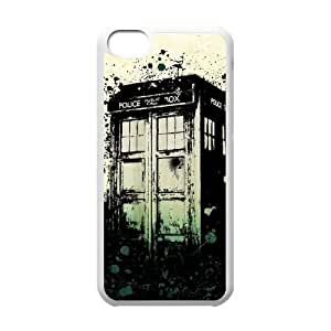 Doctor Who 50th Anniversary Funda iPhone 5c Funda Caja del teléfono celular blanco I4G2QQ