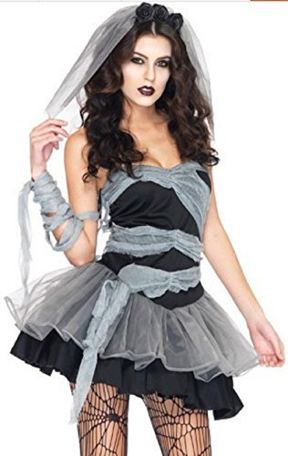 UNI Vampire Queen Ghost Cosplay Fancy Dress Up Halloween (Gothic Spider Bride Costume)