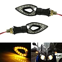 iJDMTOY (2) Add-on Amber 12-SMD LED Turn Signal Blinker Lights For Motorcycle Bike Front and Rear