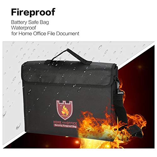 Wikiwand Battery Safe Bag Explosion-Proof Storage Fireproof Home Office File Pouch by Wikiwand (Image #2)