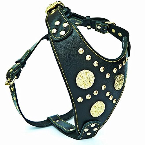 Bestia Genuine Leather Maximus Dog Harness. Big Dogs only! Cane Corso, Rottweiler, Dogo Argentino, Presa, Mastiff, Bulldog. 100% Leather. Soft Padded Chest Plate. Handmade in Europe! by Bestia (Image #4)