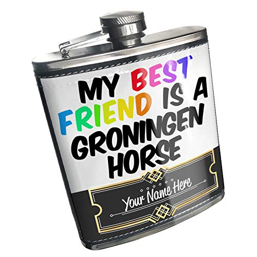 (Neonblond Flask My best Friend a Groningen Horse Custom Name Stainless)