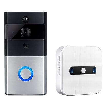 Timbre Inalámbrico De Video, Cámara De Seguridad 720P Hd, Soporte Para Audio Bidireccional En