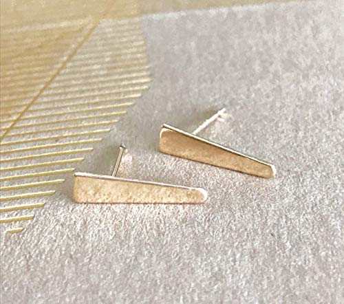 Spike Geometric (Woman's Gold Spike Triangular Earrings Minimalist Style Jewelry Geometric Jewelry)