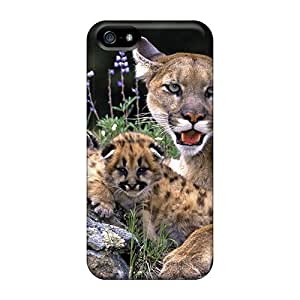 phone covers New Snap-on New Starting Skin Case Cover Compatible With iPhone 5c- Mountain Lion With Cubs