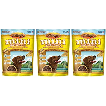 Amazon.com: Zuke's Mini Naturals Dog Treats, Peanut Butter