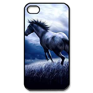 Horse Running New Fashion DIY Phone Case for Iphone 4,4S,customized cover case ygtg521595