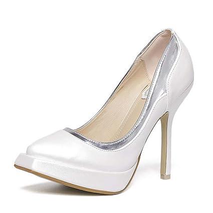 b3a0a132474f Platform Pump 12.5cm Scarpin Square Toe High Heels Dress Shoes Wedding  Shoes Women Simple Pure