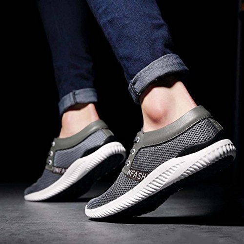 ZXCV Zapatos al aire libre Zapatos de malla neto de los hombres zapatos ocasionales zapato perezoso zapatos zapatos transpirables Gris