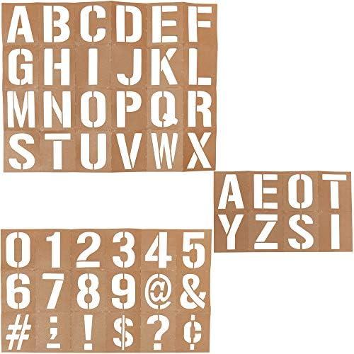 Bright Creations オイルボードステンシルセット DIYクラフト、数字、文字、シンボル用 (50枚入り)