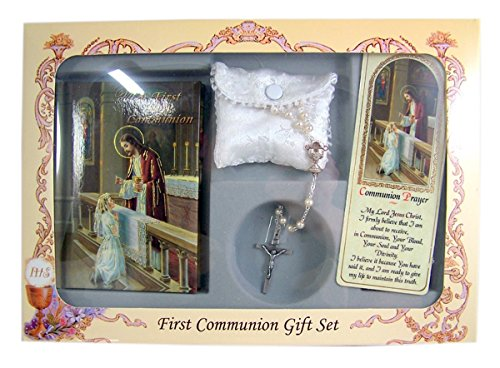 My First Holy Communion Gift Set with Mass Book, Rosary, and Bookmark (Girls)