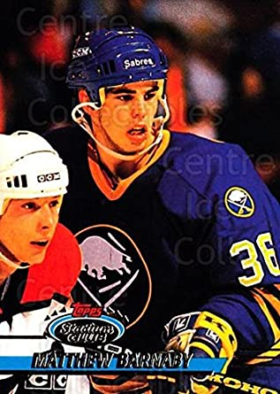 Amazon.com  (CI) Matthew Barnaby Hockey Card 1993-94 Stadium Club ... 3a1eedd27