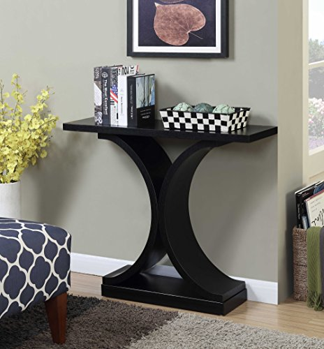 Convenience Concepts Newport Infinity Console Table, Black