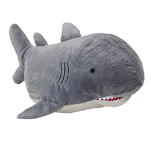 Pillow Pets Sharky Shark Discovery Channel Shark Week - Stuffed Plush Toy for Sleep, Play, Travel, and Comfort - Great for Boys and Girls of All Ages - Soft and Washable ()