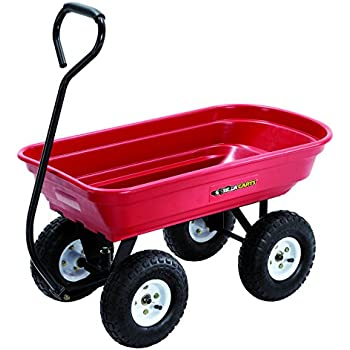 Gorilla Cart GOR100 14 Poly Garden Cart With Curved Handle, 400 Pound  Capacity