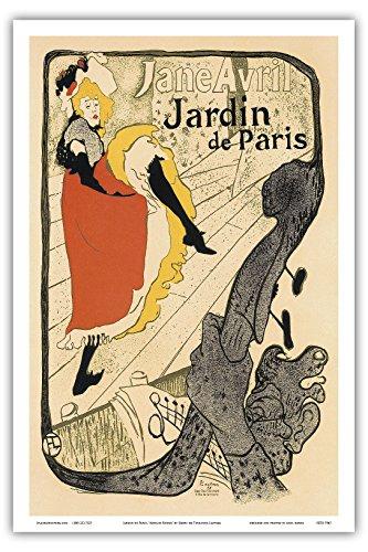 """Jardin de Paris; A show by Jane Avril at the Cabaret Dance Hall """"Moulin Rouge"""" in Paris; Belle Époque, Art Nouveau, Art Deco; Vintage French advertising poster; """"Les Maitres de -"""