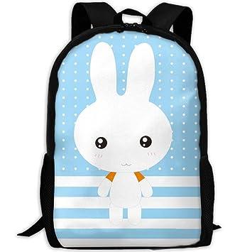 SZYYMM Mochila de Tela Oxford de Conejo Personalizada, para Viajes, Deportes al Aire Libre