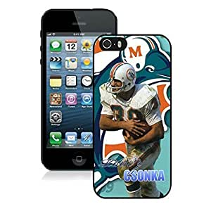 NFL&Miami Dolphins Larry Csonka iPhone 5 5S Case Gift Holiday Christmas Gifts cell phone cases clear phone cases protectivefashion cell phone cases HLNB605584610