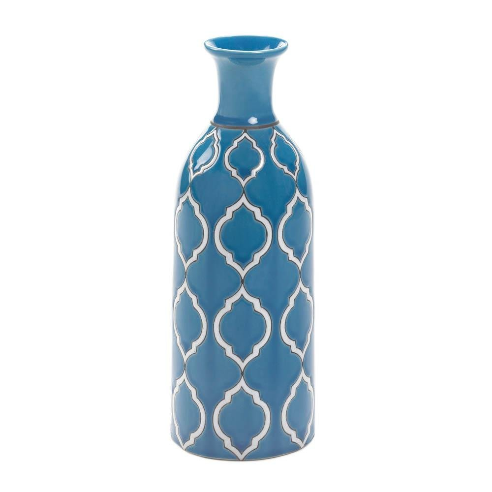 Buy Large Ceramic Vase Living Room Modern Tall Vases Decorative Blue Online At Low Prices In India Amazon In