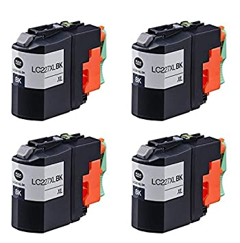 4 negro Compatible Brother LC227XLBk cartuchos de tinta para ...