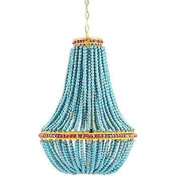 Amazon creative co op wood beaded chandelier 175 round by creative co op wood beaded chandelier 175 round by 26 height aloadofball Image collections