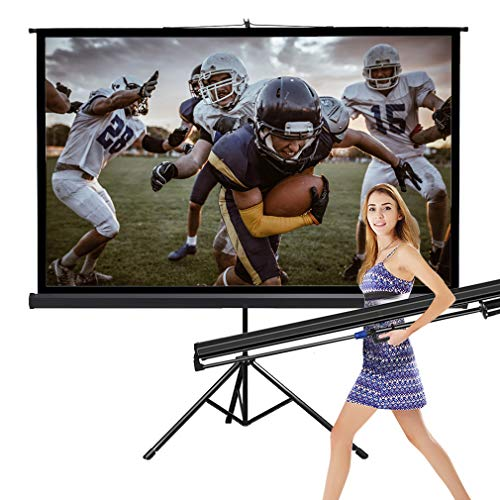 Projector Screen Movie Screen Theater Cinema TV HD Large Tripod Stand for Home Office Outdoor Indoor Folding Wedding Party Presentation,16:9, 80 inches