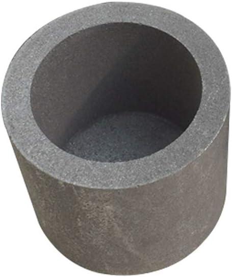 Dumadf Graphite Crucible Cup Silicon Carbide Propane Torch Lab Melting Casting Refining Copper Aluminum-50x60mm-140ml