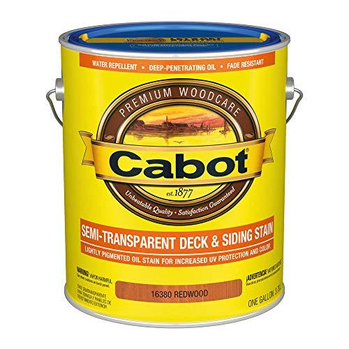 Semi Transparent Oil Deck - Cabot 140.0016380.007 Semi-Transparent Deck & Siding Low VOC Stain, Gallon, Redwood