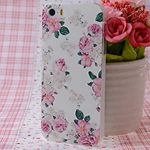 YXF Pink Rose Pattern Nice Feeling Embossment Back Case for iPhone 5/5S